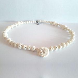 «Белая роза» колье