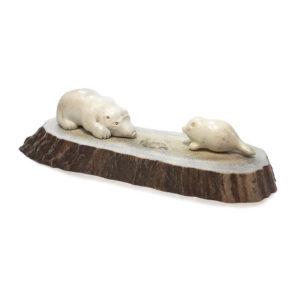 Медведица и тюлень