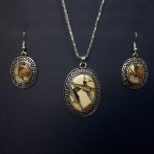 «Афина» набор — кулон и серьги