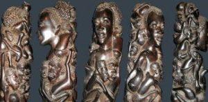 Скульптуры из чёрного дерева