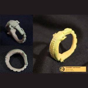 Кольцо для шейного платка «Крокодильчик»