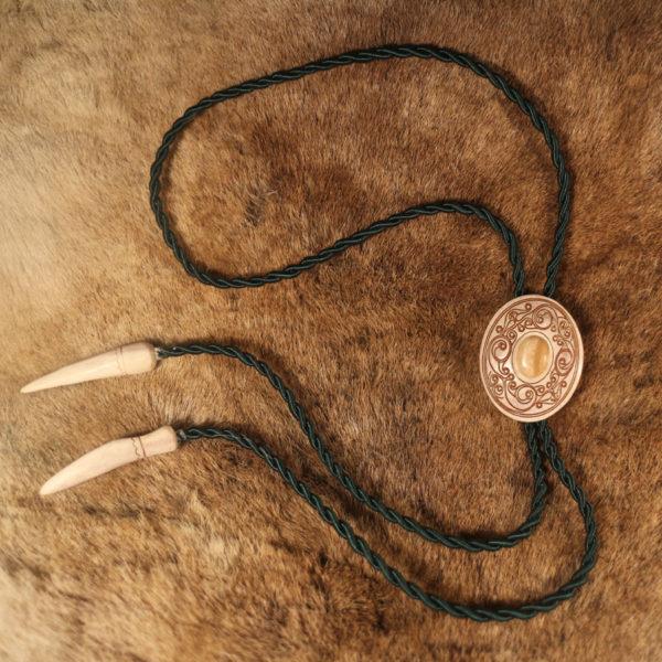 Галстук-боло из бивня мамонта