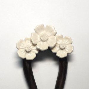 «Цветы» заколка