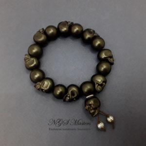 «Чёрный череп» чётки-браслет малые