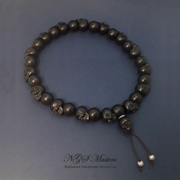 чётки-браслет из черного дерева