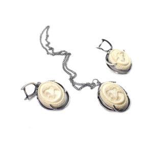 Камеи «Блаженство» серьги+кулон