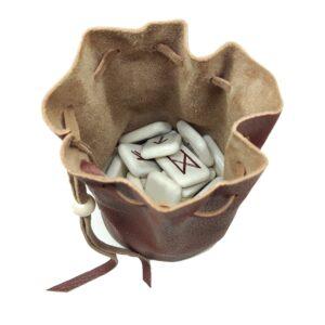 Мешочек для рун кожаный